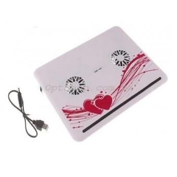 """Стильная охлаждающая подставка-кулер для ноутбука 10 """"- 16"""" Notebook Helder"""