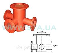 Подставка фланцевая-тройник под пожарный гидрант ППТФ Ду150мм ГОСТ 8220-85