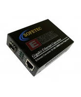 Медиаконвертор Sofetec SF 1002/3 WDM, 1000 Мбит/с, Tx-1550nm, Rx-1310nm
