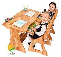 Детская парта растишка с 2мя ящиками Mobler, 120 см, фото 1