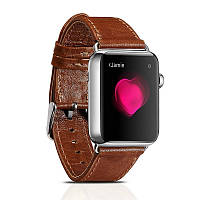 Ремешок для Apple Watch 38 мм - iCarer Genuine Leather Series Watchband, коричневый
