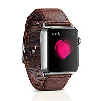Ремешок для Apple Watch 38 мм - iCarer Genuine Leather Series Watchband, кофе