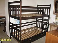 Кровать детская деревянная  «Колобок»