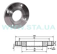 Фланец плоский стальной 20мм Ру10 ГОСТ 12820-80