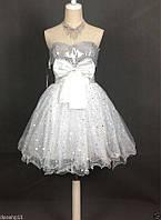 Платье белое нарядное (выпускное, вечернее)