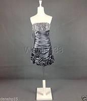 Платье жемчужно-серого цвета нарядное (выпускное, вечернее), фото 1