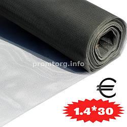 """Сетка москитная стекловолокно """"EURO FIBERGLASS"""" 1.4м*30пог.м (115г/м2) цвет серый"""