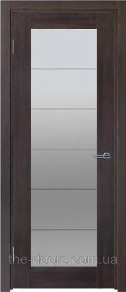 Двери межкомнатные ЛАЙН со стеклом витраж экошпон