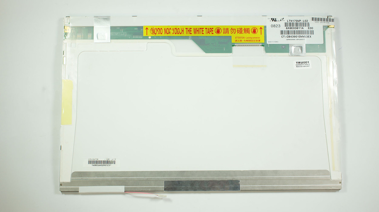 "Матрица 17.0"" LTN170WP-L02 (1680*1050, 30pin, 1CCFL, NORMAL, глянцевая, разъем справа вверху) для ноутбука"