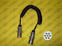 Провод электрический 7 отверстий с металлической вилкой (палец)