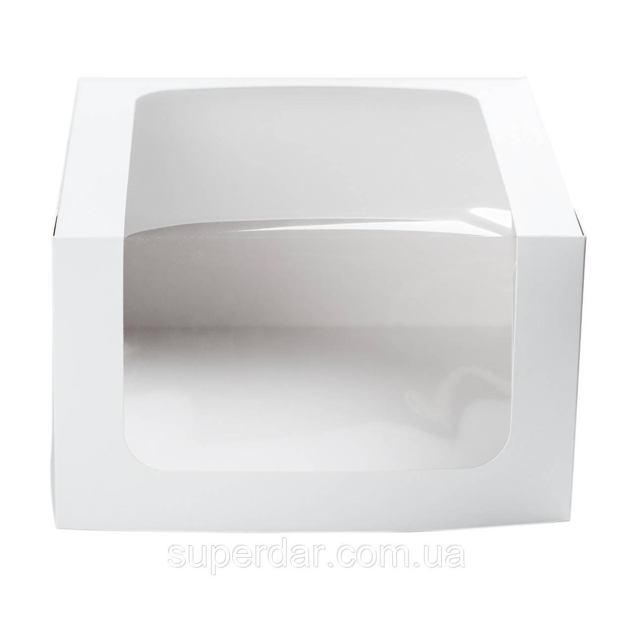 Коробка для торта, 250Х250Х150 мм, белая
