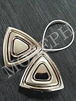 Магнит-подхват для штор Треугольник цвет сатин-никель