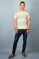 "Мужская футболка Olis-Style ""Полоска"" желтый, фото 1"