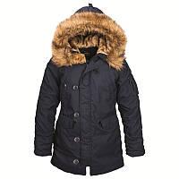 Зимова жіноча куртка аляска Alpha Industries Altitude W Parka WJA44503C1 (Replica Blue)
