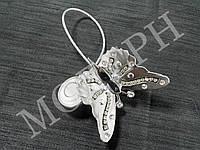 Магнит-подхват для штор Бабочка со стразами цвет сатин-никель