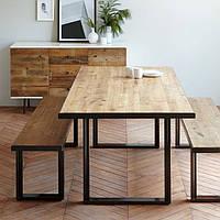 Кухонный стол из дерева и металла