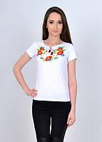 Трикотажная футболка с полевыми цветами