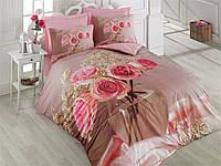 Двуспальное постельное бельё 200х220 Cotton box 3D Ранфорс ROSA PEMBE