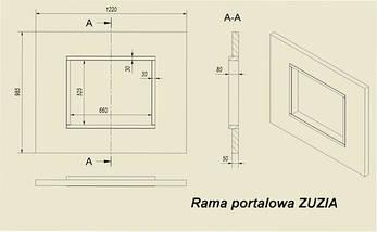 Рамка Rosso Alicante для каминных топок KRATKI Zuzia/Eryk, фото 3