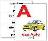 """Карточки мини немецкие """"das Alphabet"""" 30 карт., ТМ Вундеркинд с пеленок, 098994, фото 2"""