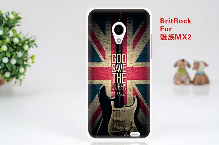 Силіконовий чохол бампер для Meizu MX2 з картинкою Britrock