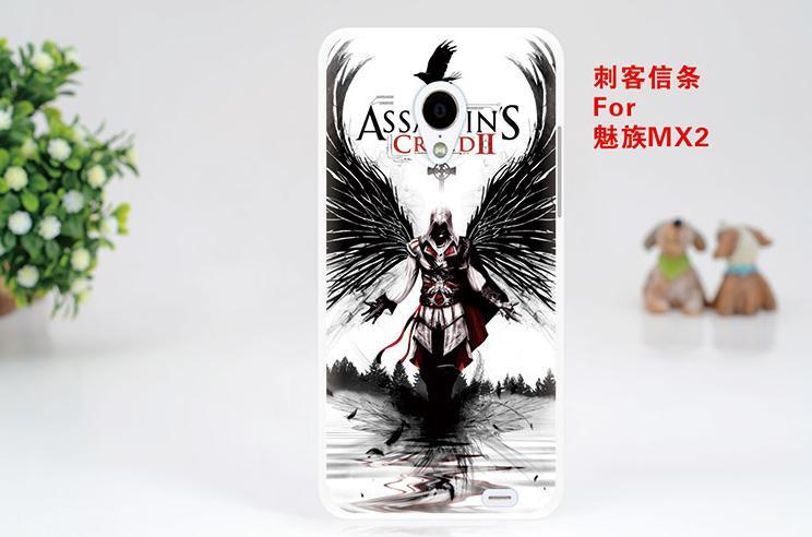 Силиконовый чехол бампер для Meizu MX2 с картинкой Assasin'S