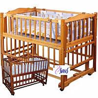 Кроватка детская Geoby G425 бежевая LM604SA