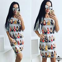 Стильное платье Обувные полочки 676 (714)