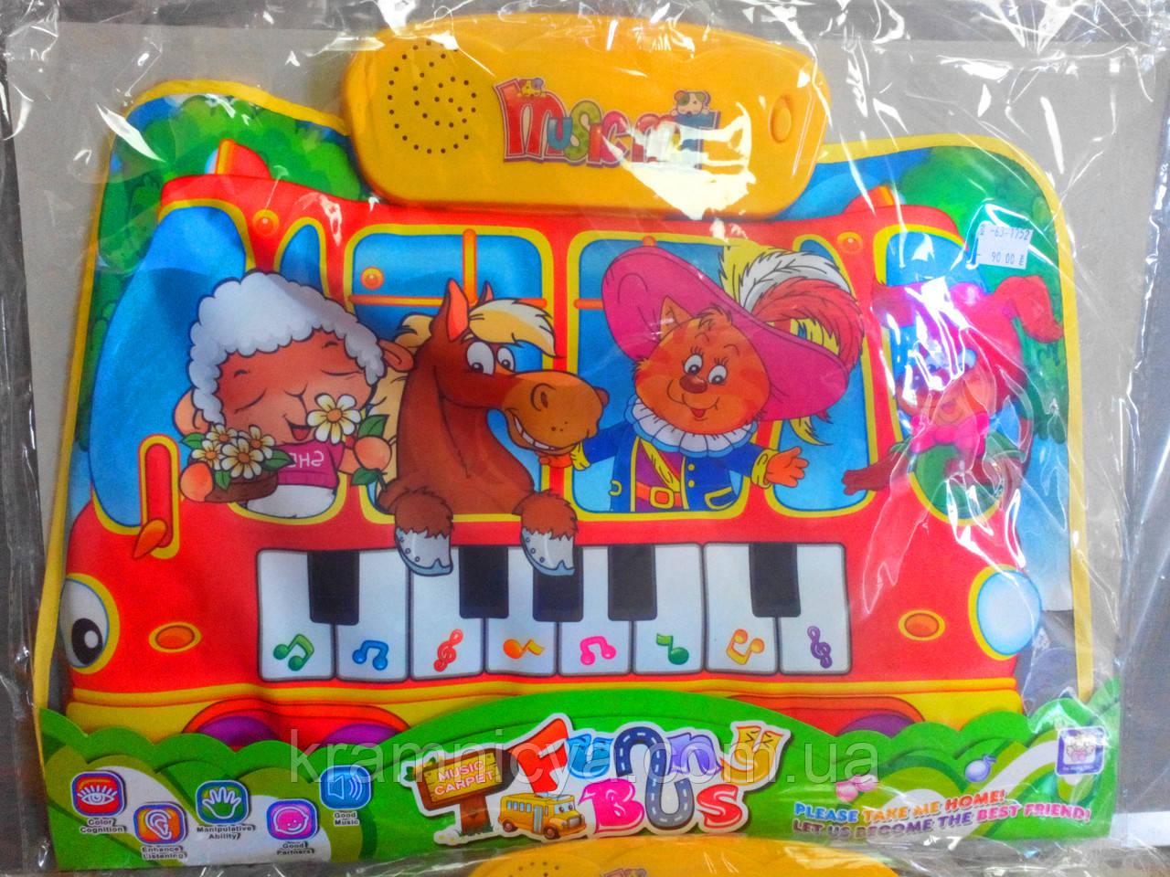 Музыкальный коврик  LX6239A/B/6238B (3 вида)