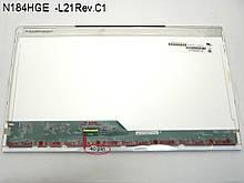 """Матрица 18.4"""" N184HGE-L21 (1920*1080, 40pin, LED, NORMAL, глянцевая, разъем слева внизу, for Acer 8935, 8943,"""