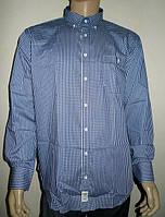 Мужская сорочка в синюю клетку, фото 1