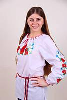 Женская рубашка с поясом