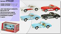 Машинка 1:34 Kinsmart легковая KT5316W CHEVROLET CORVETTE (1957)  , металл