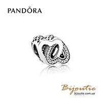 Pandora Шарм ПЕРЕПЛЕТЕННЫЕ СЕРДЦА 791880CZ серебро 925 Пандора оригинал