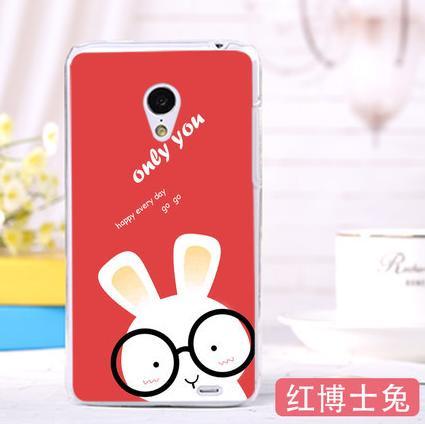 Силіконовий чохол бампер для Meizu MX2 з картинкою заєць в окулярах