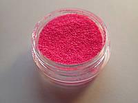 """Сахарный песок для дизайна ногтей 0.2 мм """"розовый"""""""