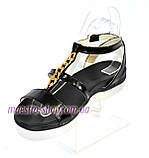 Босоножки женские кожаные черного цвета от производителя., фото 2