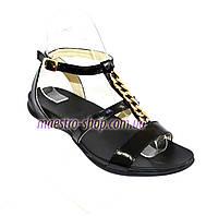 Босоножки женские кожаные черного цвета от производителя., фото 1