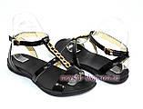 Босоножки женские кожаные черного цвета от производителя., фото 4