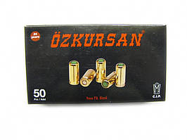 Шумовой патрон Ozkursan 9мм.