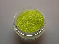 """Сахарный песок для дизайна ногтей 0.4 мм """"жёлтый"""""""
