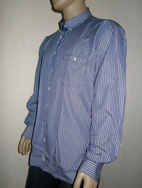 Мужская рубашка в многоцветную полоску