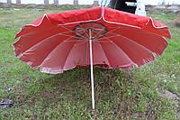 Зонт  2.1 м с серебряным напылением и ветровым клапаном