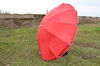 Зонт 2.8м 12 спиц с серебряным напылением