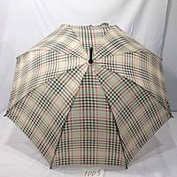 Женский зонт трость в клеточку