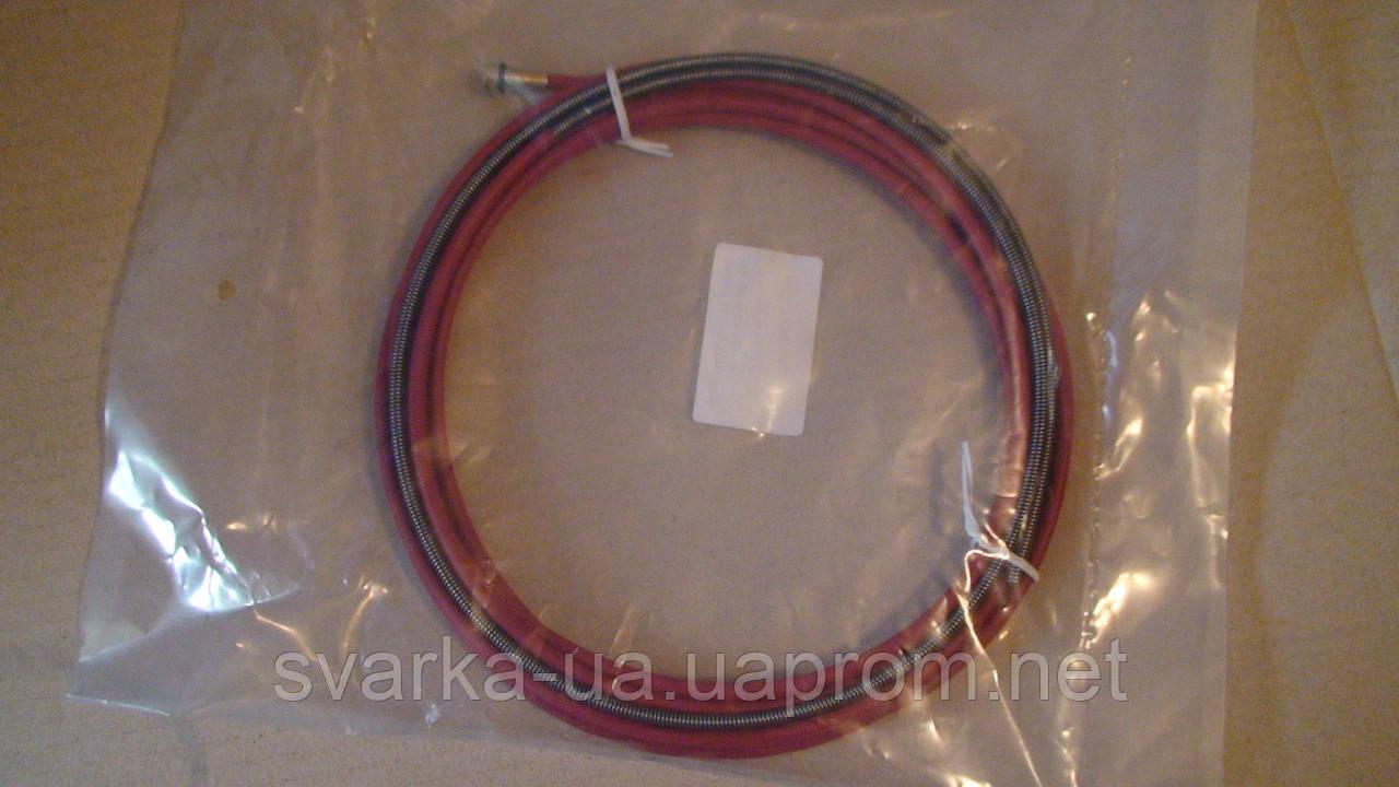 Спираль, подающий канал красный 4,4 м с латунной цангой