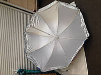 Пляжный зонт c серебряным напылением, регулировкой наклона купола и металлопластиковыми спицами