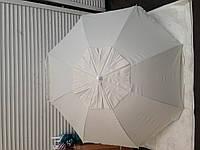 Пляжный зонт из плотной ткани с серебрянным напылением, металлопластиковые спицы, ветровой клапан