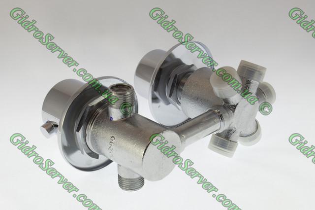 Смеситель термостат GT - 05 для гидромассажных ванн, джакузи врезной на борт или в душевую панель.