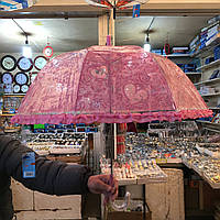 Детский зонт трость Ажурный 3, полуавтомат, 8 спиц